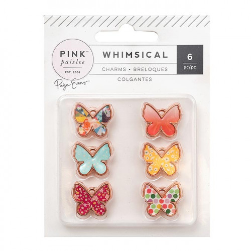Whimsical Charms papillon - 6 pcs