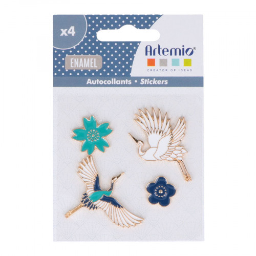 Embellissements en métal Japan- 4 pcs