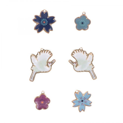 Charms finition Epoxy Japan - 6 pcs