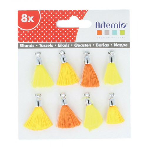 Pompons - Jaune orange - 8 pcs