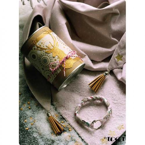 Pompons - Pastel or argent - 3,6 cm - 5 pcs