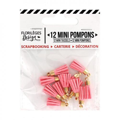 Mini Pompons - rose thé - 12 pcs