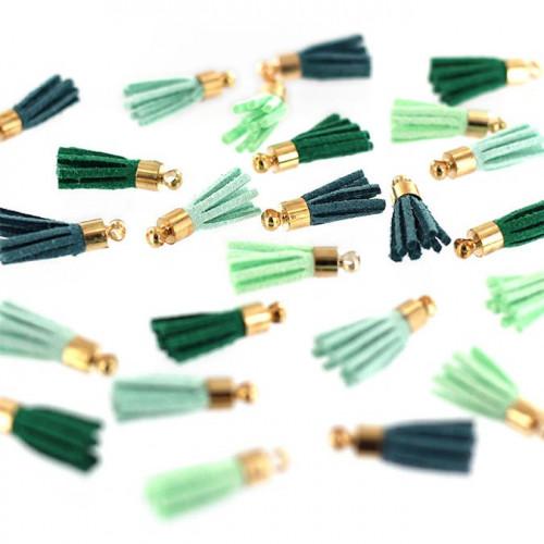 Mini Pompons - Soft & Green - 24 pcs