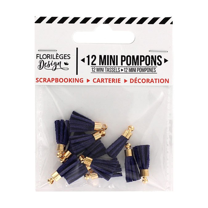 Mini Pompons - outremer - 12 pcs