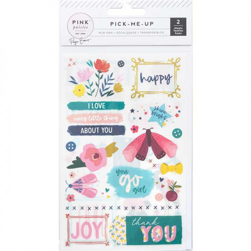 Rub-ons Pick Me Up - 2 planches