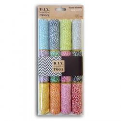 Baker's Twine - 12 bobines de ficelle bicolore