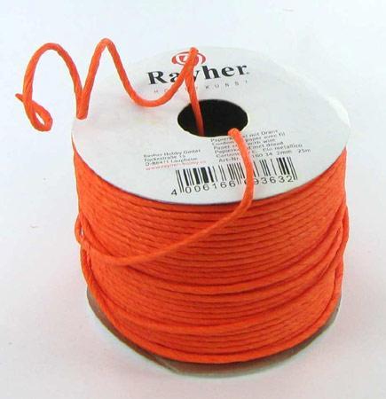Cordon en papier renforcé - orange
