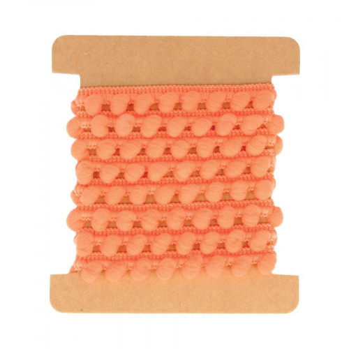 Ruban pompons - Orange - 1 m