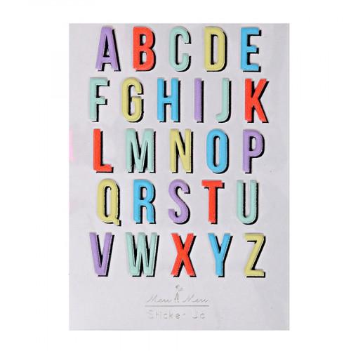 Stickers - Relief - Alphabet I - 26 pcs
