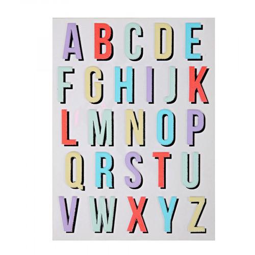 Stickers - Relief - Alphabet II - 26 pcs