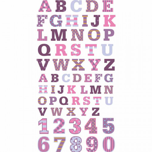 Autocollants 3D Alphabet P'tite Nana Puffies