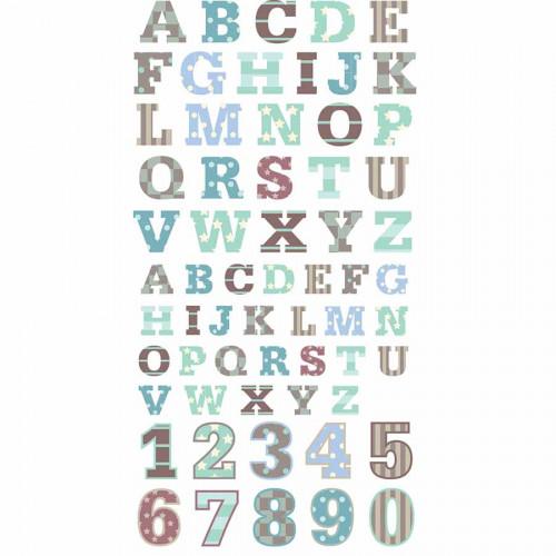 Autocollants 3D Alphabet P'tit Mec Puffies