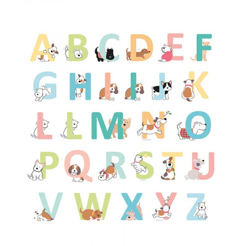 Alphabet autocollant Family Friends Chiens