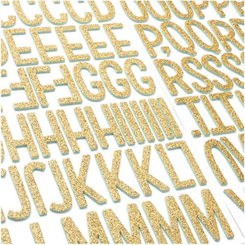 Stickers Alphabet en mousse pailletée - 117 pcs