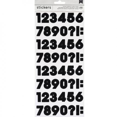 Stickers Chiffres - noir - 208 pcs