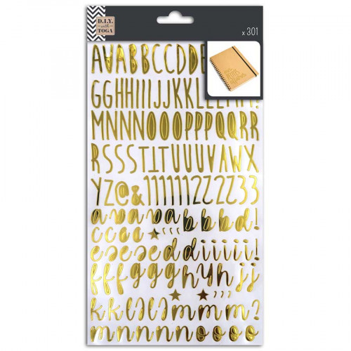 Alphabet Stickers Or - 2 planches