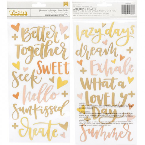 Goldenrod Stickers Phrases - 61 pcs