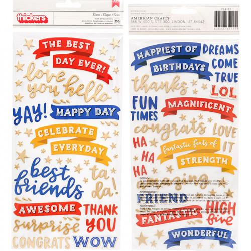Big Top Dreams Stickers en mousse Phrases