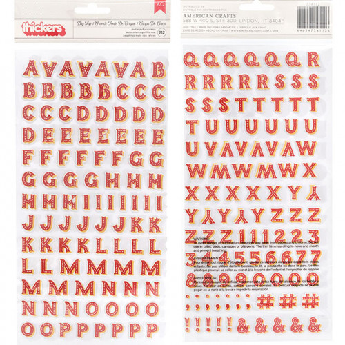 Alphabet Puffy Stickers rouges