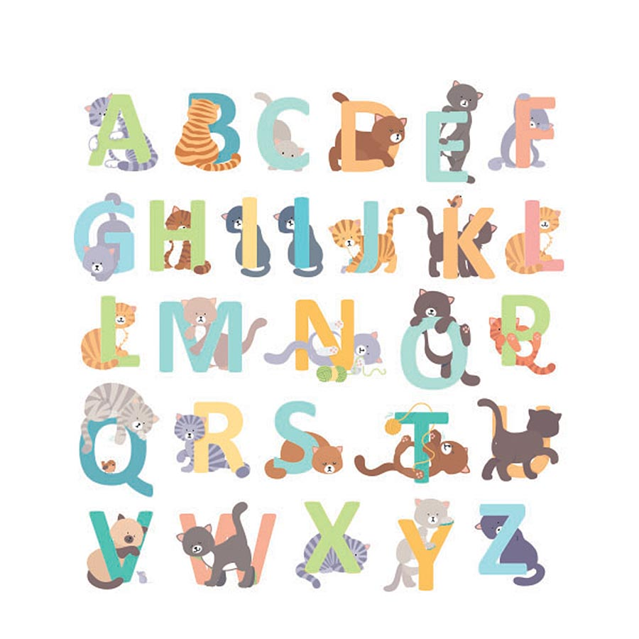 Alphabet autocollant Family Friends Chats