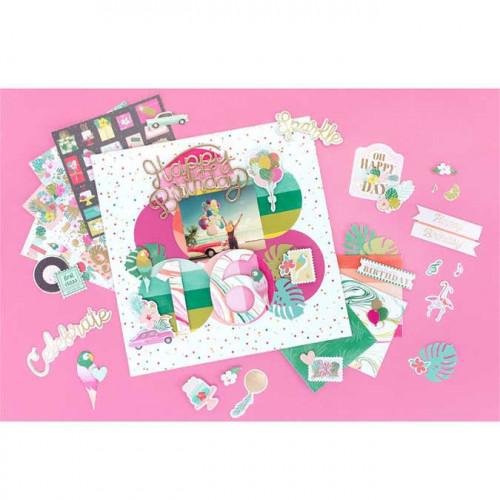 Stickers Mots et Phrases en mousse Confetti Wishes