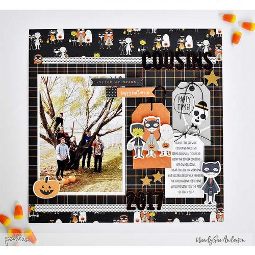 Spooky Boo ! Alphabet Stickers en mousse noire