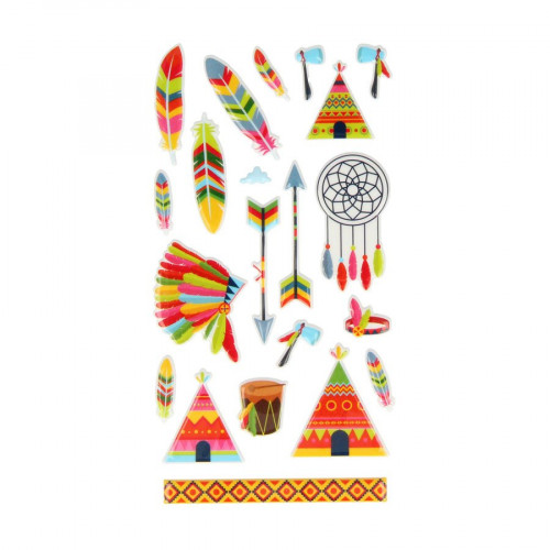 Totem - Puffy Stickers - Indiens - 21 pcs