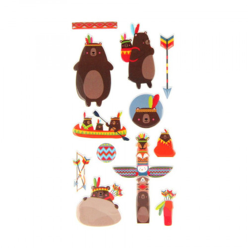 Totem - Puffy Stickers - Ours - 12 pcs