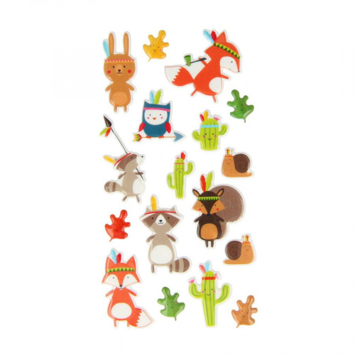 Totem - Puffy Stickers - Personnages - 17 pcs