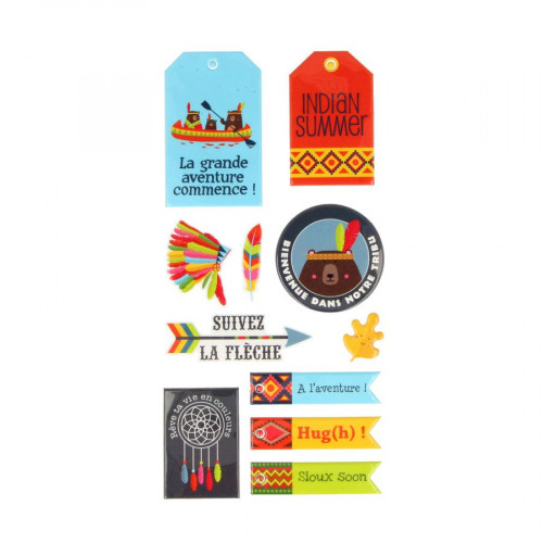 Totem - Stickers Puffies - XL - 12 pcs