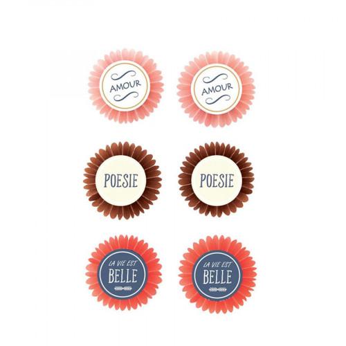 Stickers 3D - Poésie - 6 pièces