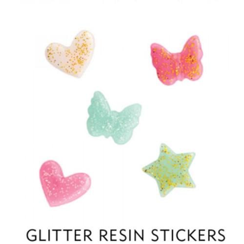 Stickers 3D en résine - 6 pcs