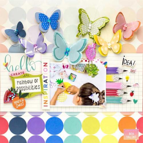 Stickers Box of Crayons - 40 pcs