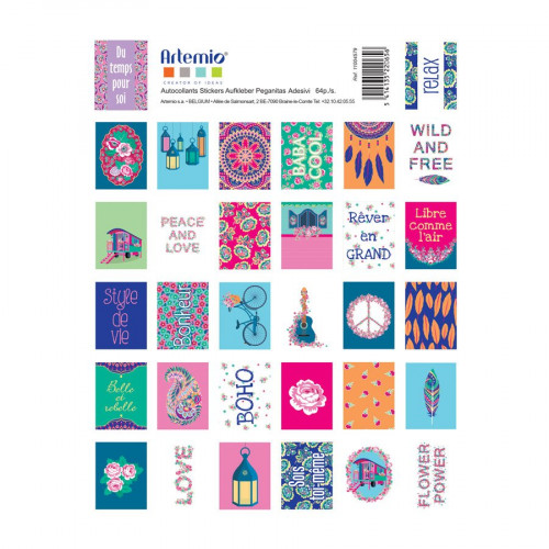 Flower Power - Timbres autocollants