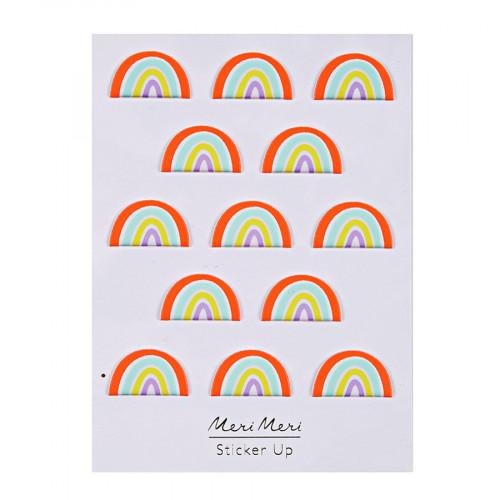 Stickers - Relief - Arc-en-ciel - 13 pcs
