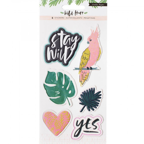 Wild Heart Puffy Stickers embossés