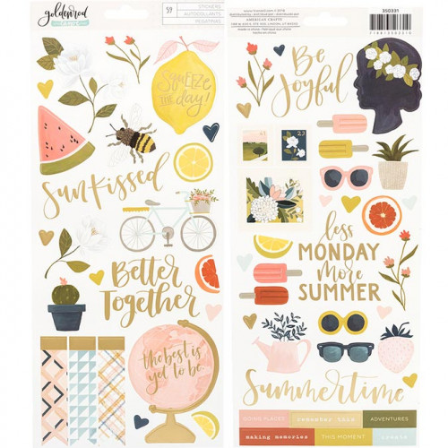 Goldenrod Stickers - 59 pcs