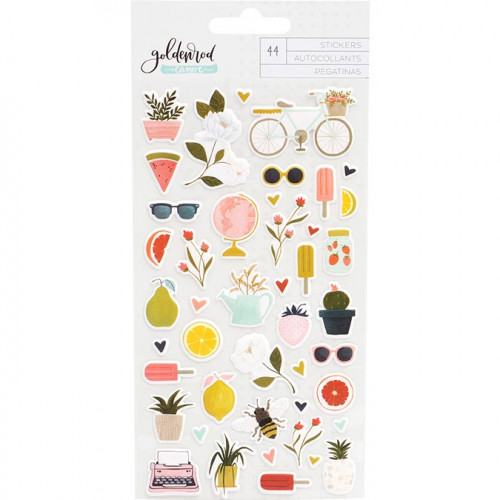Goldenrod Puffy Stickers - 44 pcs