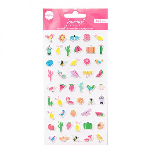 Journal Studio Puffy Stickers - 49 pcs