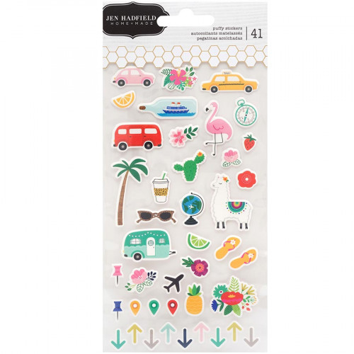 Chasing Adventures Puffy Stickers - 41 pcs