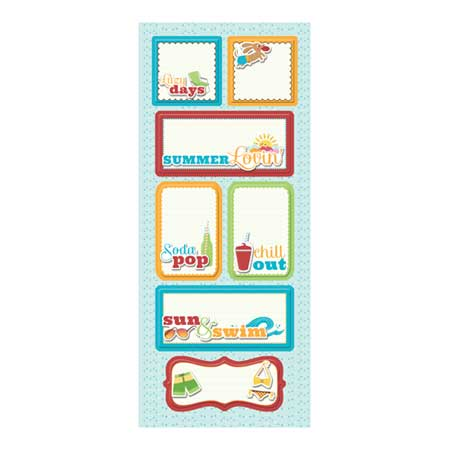 Endless Summer - Sticker Stacker Lazy Days : 5 x 12 cm