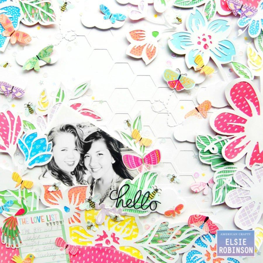 Puffy Stickers Sunshine & Good Times - 49 pcs