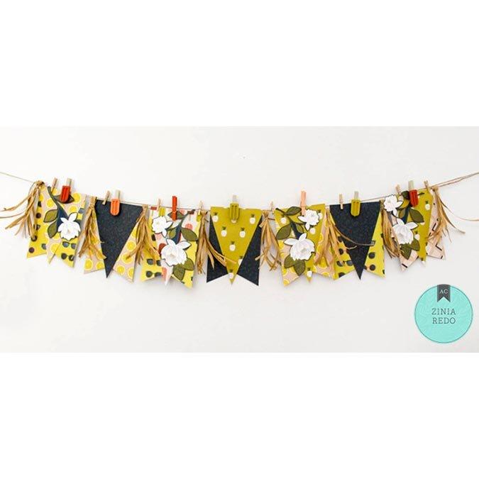 Goldenrod Puffy Stickers - 44 pcs