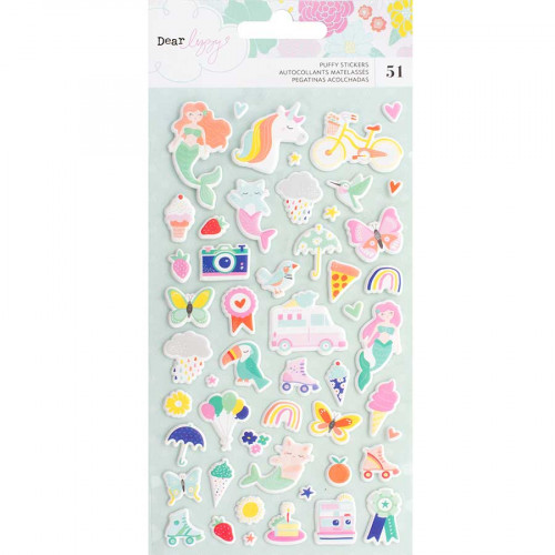 Puffy Stickers Stay Colorful - 51 pcs