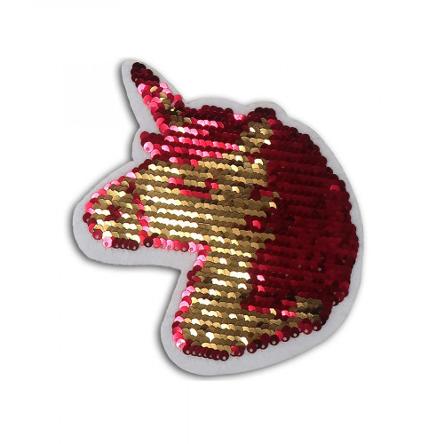 Sticker Licorne en sequins réversibles