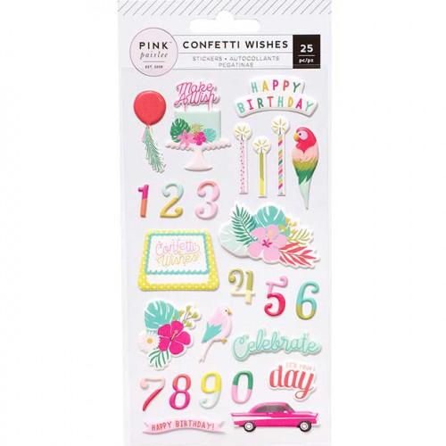 Puffy Stickers Confetti Wishes