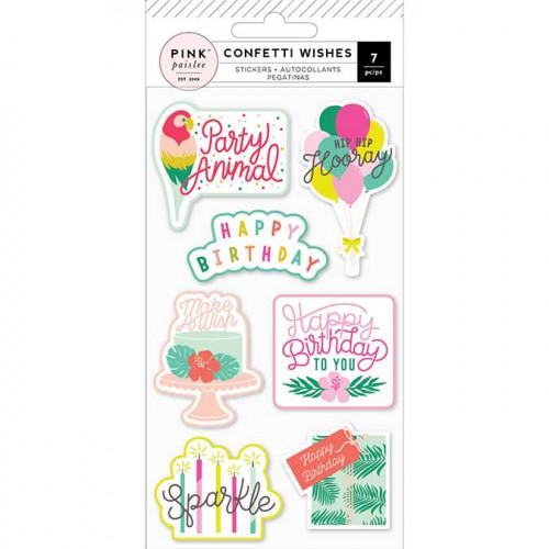 Stickers embossés Confetti Wishes