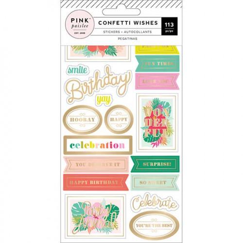 Stickers Confetti Wishes