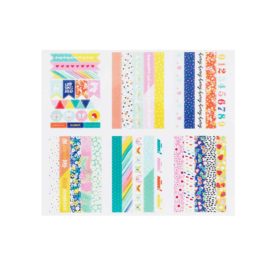 Stickers Washi Tape Stay Colorful