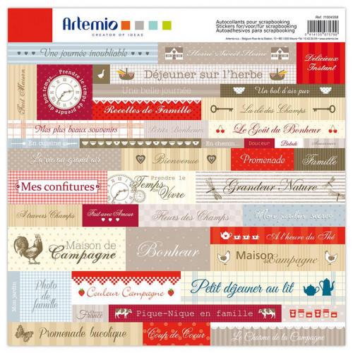 Campagne - Planche de Texte - Stickers